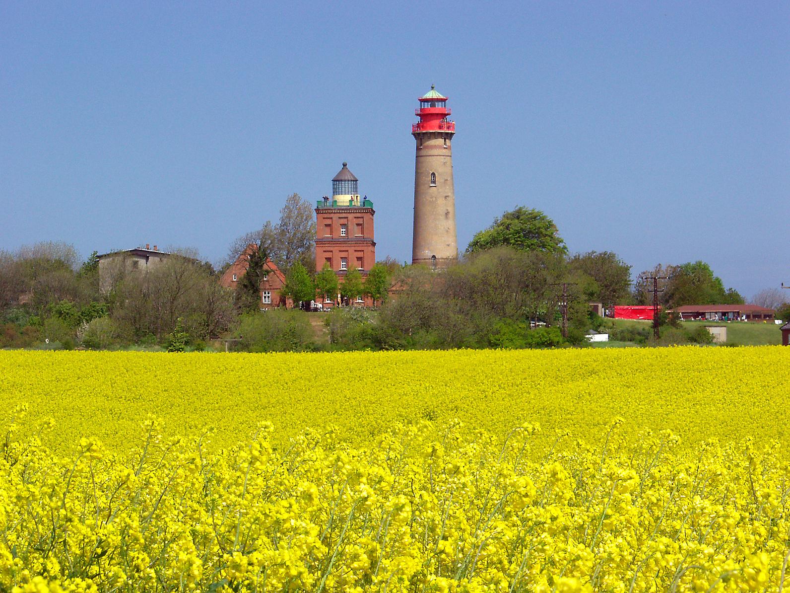 Nordrügen - Breege - Glowe - Die zwei Leuchttürmen am Kap.