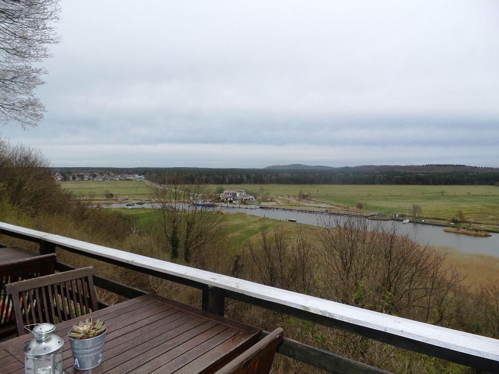 Biosphärenreservat Mönchgut - Blick von dem   Ausflugslokal Moritzburg  , ein traditionsreiches und sehr gemütliches Restaurant oberhalb von Moritzdorf auf Rügen