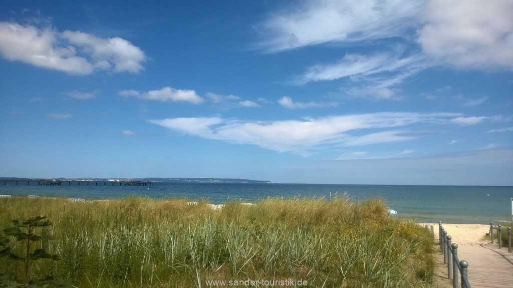 atemberaubender Blick auf das Meer vom Grundstück der Villa Stranddistel - Binz