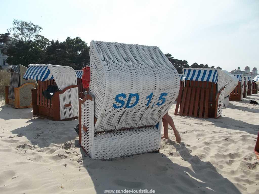 Strandkorb am Strand - Villa Stranddistel - Binz