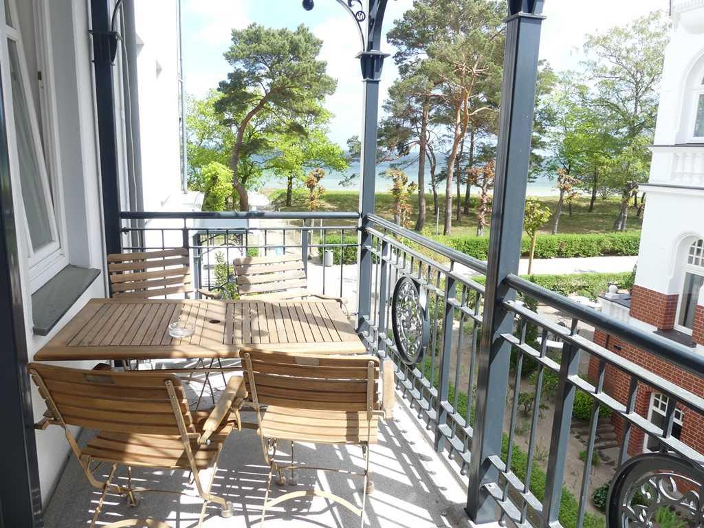 Wunderschöne Aussicht vom Balkon in Richtung Ostsee