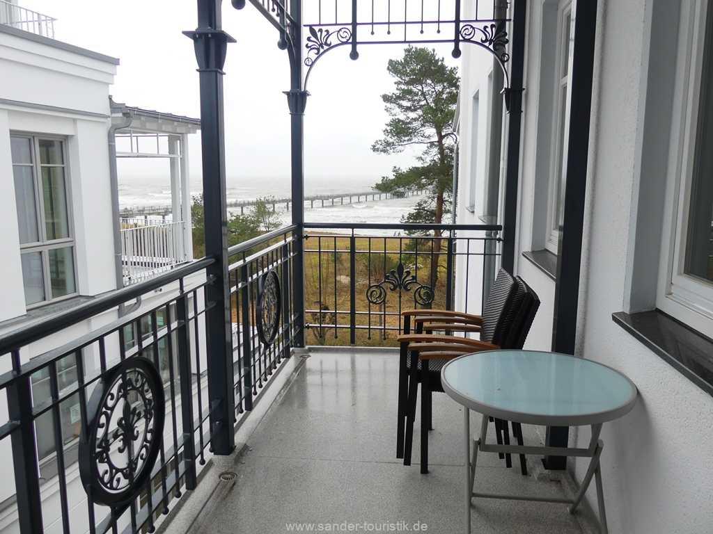 gut möblierter Balkon - Binz -Villa Strandblick