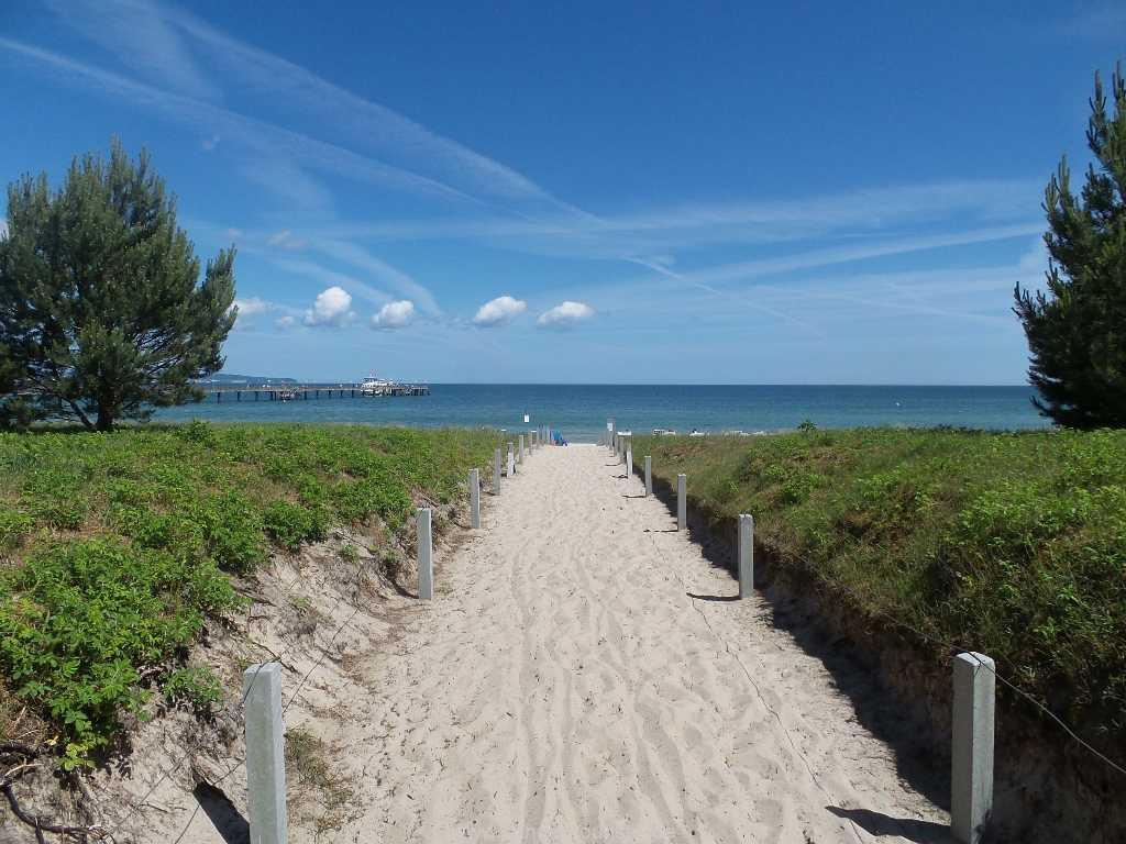 Strandzugang von der Promenade