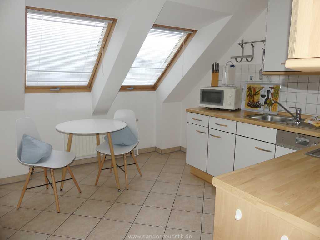Separate Küche mit sehr guter Ausstattung, u.a. einer Spülmaschine