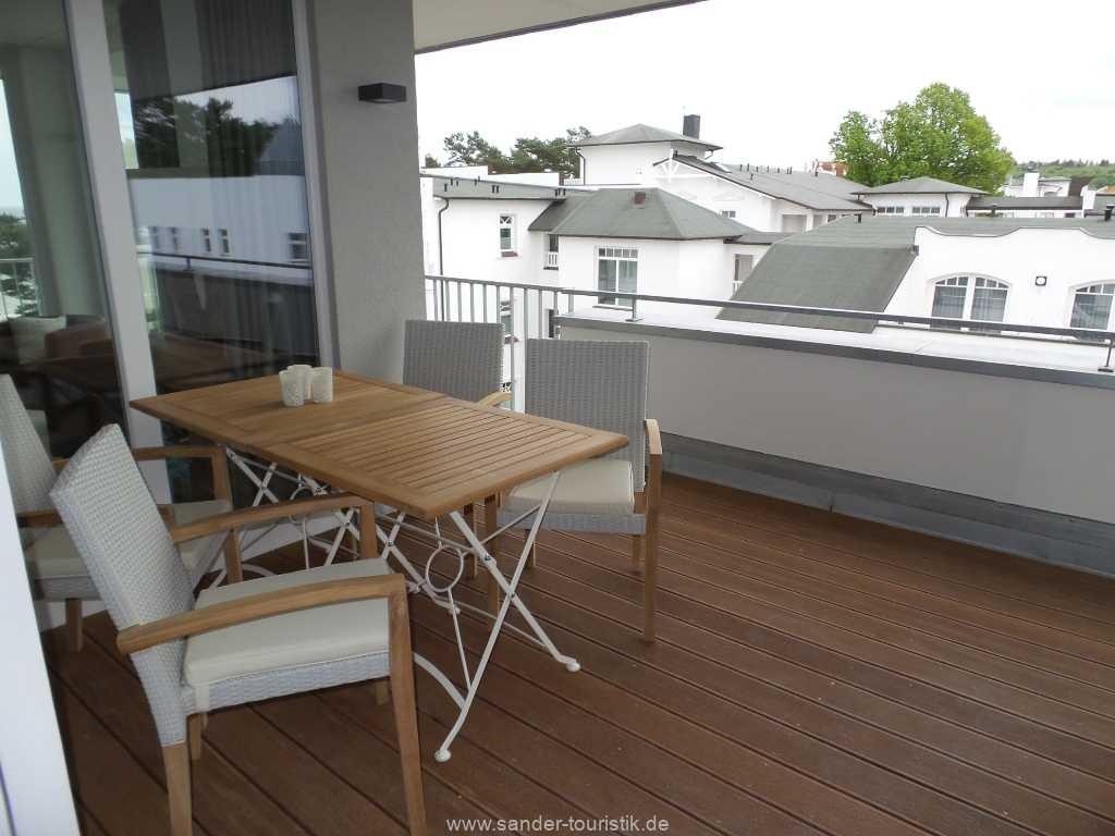 Penthouse Balkon, Ferienwohnung Binz