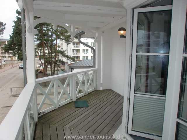 Die Wohnung, Strelasund 9 hat einen großen Süd-Balkon