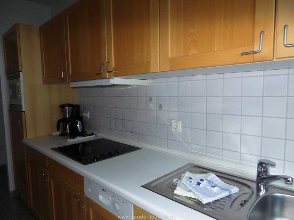 Küche mit E-Herd und Spülmaschine - Binz- a Cappella - Binz