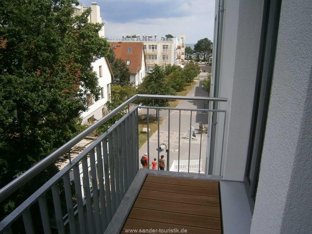 Blick vom Balkon der Schlafzimmer in das Ostseebad Binz