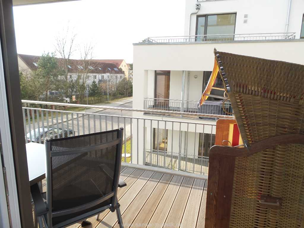 Blick vom Balkon - DünenResort -Binz