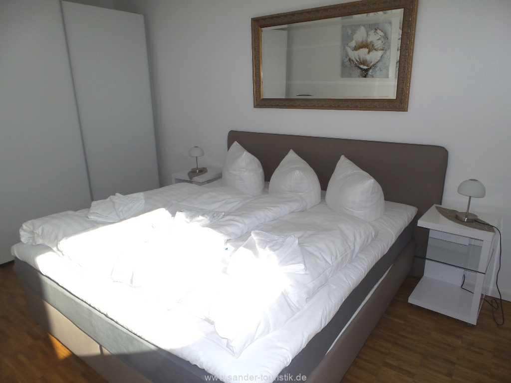 Doppelbett-Schlafzimmer mit  Boxspringbetten - Binz