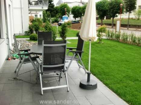 möblierte Terrasse - Binz - Residenz Margarete