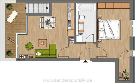 DünenResort - Grundriss Wohnung 1.3.2