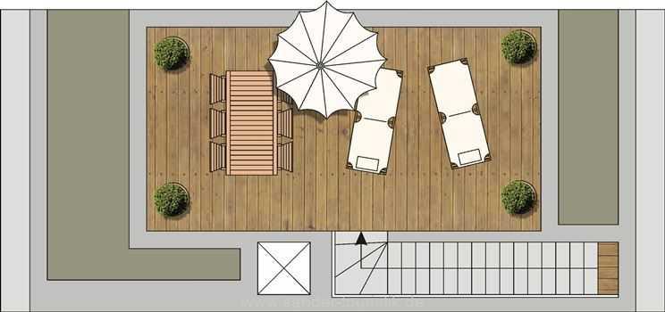 DünenResort - Grundriss Dachterrasse