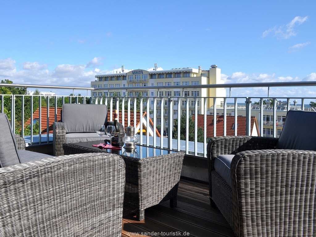 DünenResort, Elegante Lounge auf der  Dachterrasse