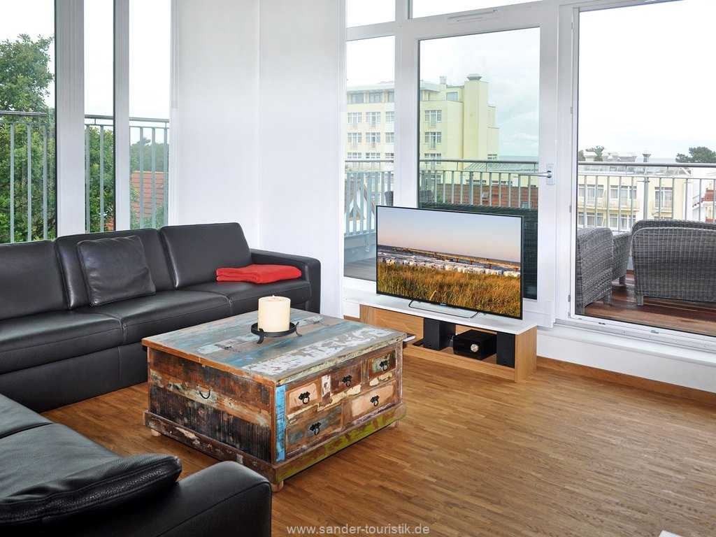 großes helles Wohnzimmer,  Penthouse,