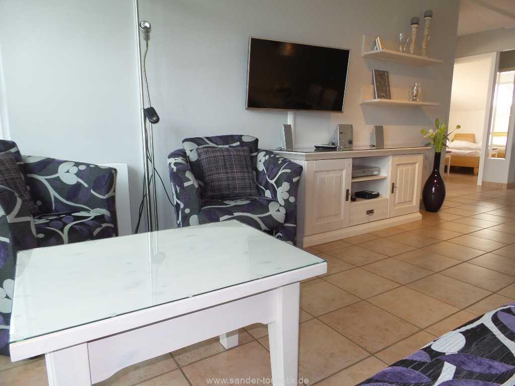 Wohnbereich mit LED-Flachbildschirm - Meernixe - Binz