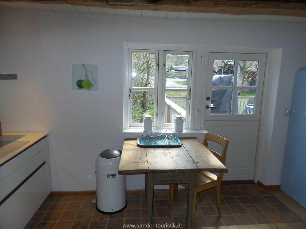 Zugang zur Terrasse vom  Wohn-Küchenbereich - Mönchgut/Rügen