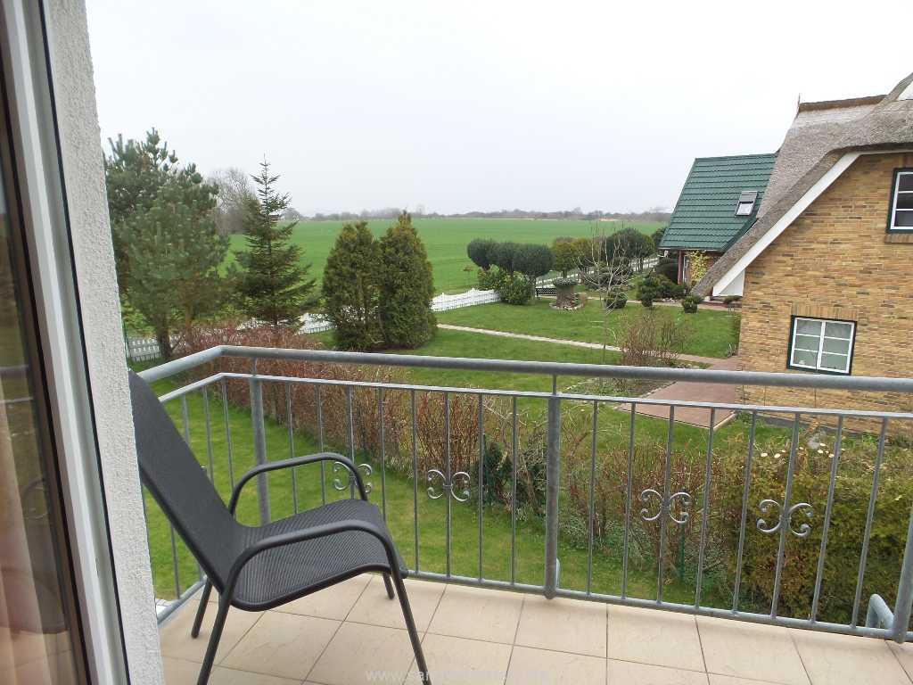 Blick vom Balkon des Ferienhauses