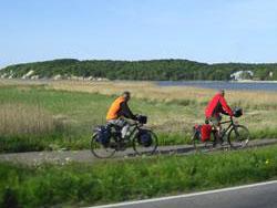 Radfahrer auf Rügen
