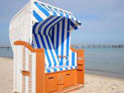 Strandkorb in Binz auf Rügen